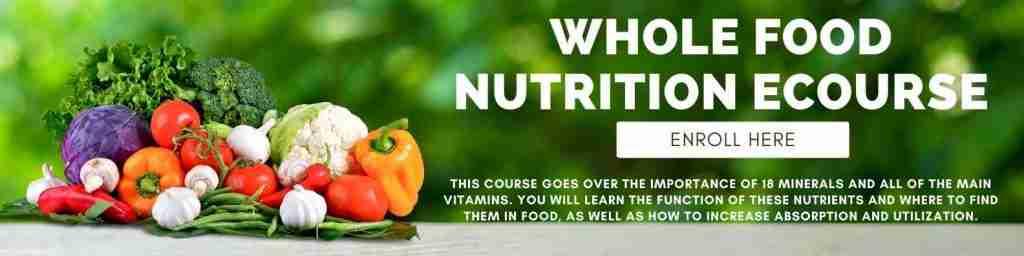 Whole food nutrition Ecourse
